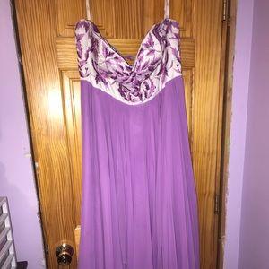 Lilac & White Prom Dress